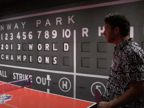 Wake Up With Dave Portnoy Absolutely DOMINATING Poor Souls At Ping Pong