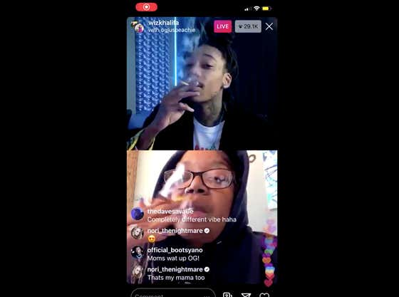 Kick Off 4/20 With Wiz Khalifa Doing The 10 Puff Challenge With His Mom