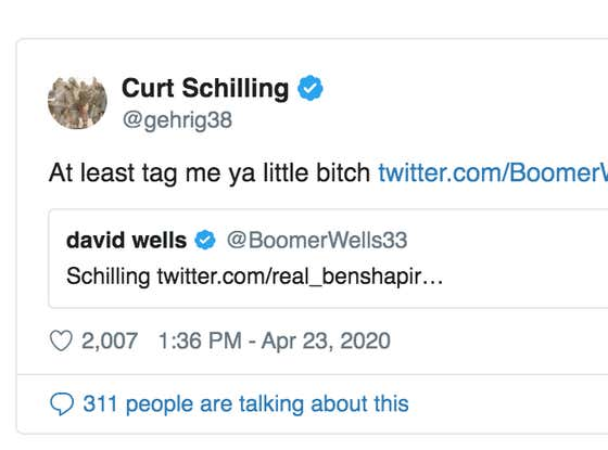 I'm Going To Need David Wells vs. Curt Schilling In The Rough N' Rowdy Ring When The Sports World Returns