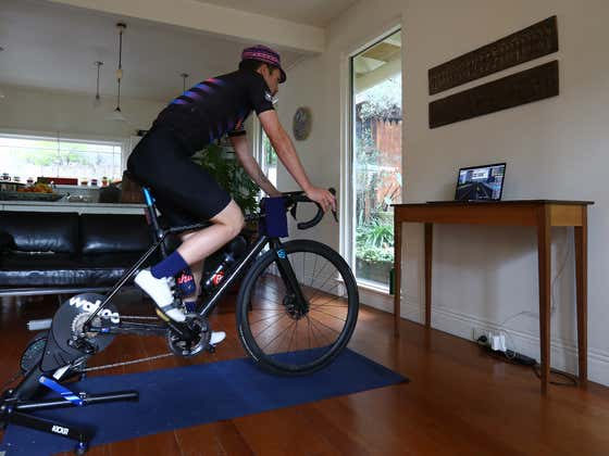 Man in Quarantine Bikes 626 Miles on his Spin Cycle, Still Can't Escape His Family