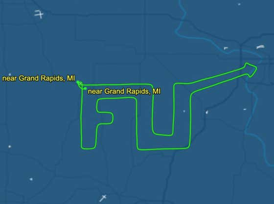 """A Pilot In Michigan Wrote """"F U"""" With His Flight Path In Response To The Governor Over Coronavirus Lockdowns"""
