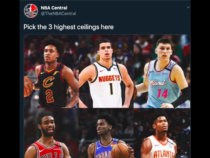#Pickem Pick the 3 Highest Ceilings