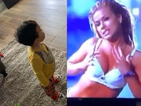 Little Man Is Infatuated By Carmen Electra's Scene In Scary Movie