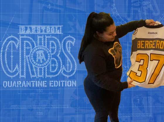 Barstool Cribs: Quarantine Edition - Marina Shows Off Some Of Her Bruins Memorabilia
