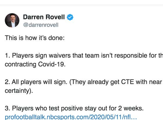 Death. Taxes. Darren Rovell Being The Absolute Fucking Worst.