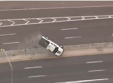 You're Still Up? Yikes. Might As Well Check Out This Police Chase Where The Truck Does A Full 360 Then Keeps Going