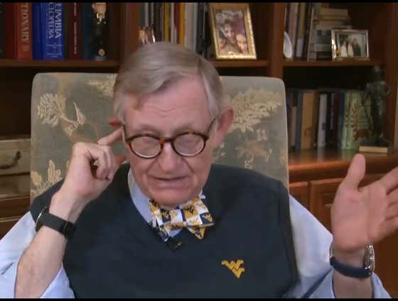 """""""We Are Going To Play Football In The Fall, Even If I Have To Suit Up"""" -- Gordon Gee, 76-Year-Old West Virginia President"""