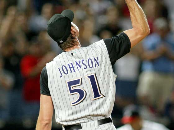 16 years ago today, 40-year old Randy Johnson becomes the oldest pitcher ever to throw a perfect game as the Dbacks (-155) beat the Braves 2-0