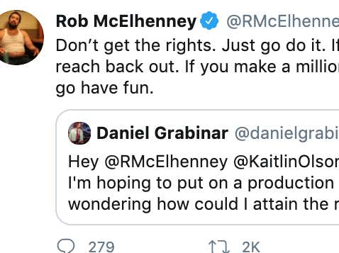 Rob McElhenney Is An Absolute King