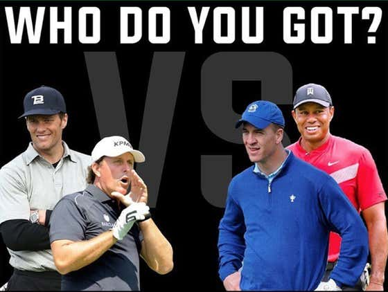 The Bet Is In For The Tiger/Peyton - Phil/Brady Match
