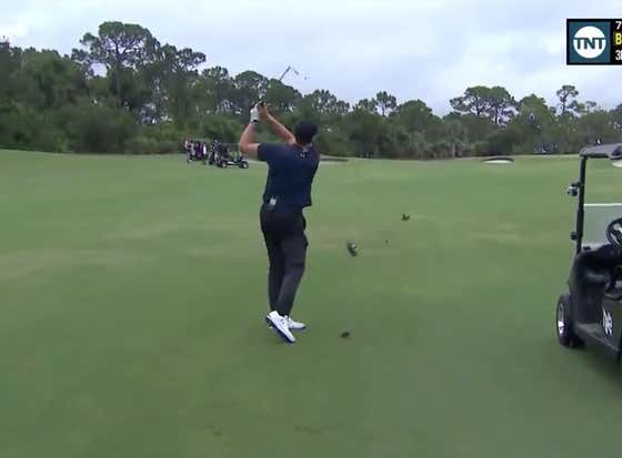 TOM BRADY HOLES OUT FROM THE FAIRWAY!!!!