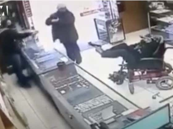 A Paralyzed Deaf-Mute Teenager Attempted To Rob A Jewelry Store In A Wheelchair With A Fake Gun That He Held With His Feet