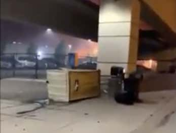Dude Gets Stuck In A Tipped Over Portajohn Last Night During The Minneapolis Riots