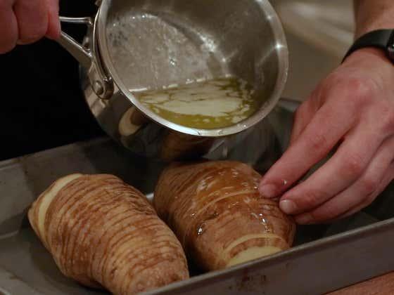 Hasselback Potato   The Quarantine Cook
