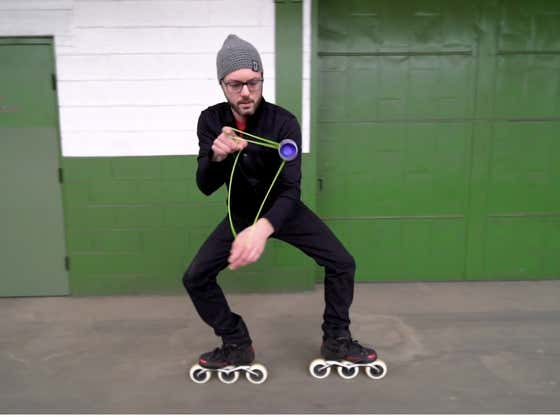 This Yo-Yoing Rollerblader Is The Coolest Son Of A Bitch I've Ever Seen