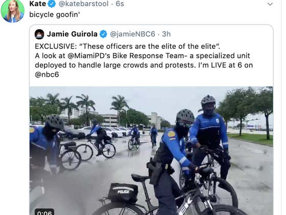 Miami PD Pops A Wheelie Straight Into Viral Internet Territory With Some Bicycle Goofin'