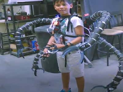 A Teenage Bitcoin Millionaire Built A Working Dr. Octopus Suit With A 3D Printer. Yes This Is A Real Life Headline