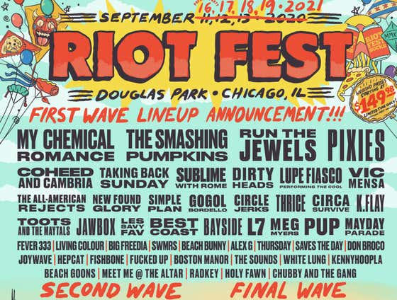 Riot Fest Announced The First Wave Of Their 2021 Lineup And I Hope More Festivals Follow Suit