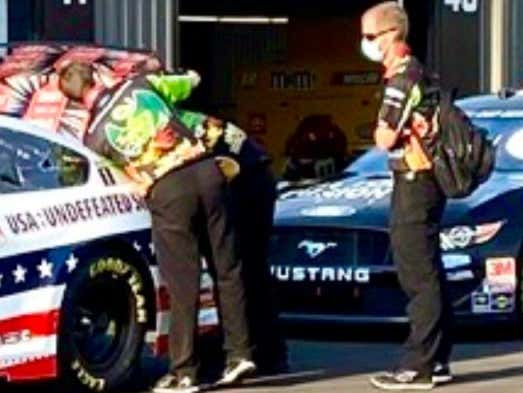 Clint Bowyer's Crew Team Wearing Davey Dragon Shirts Is Perfect
