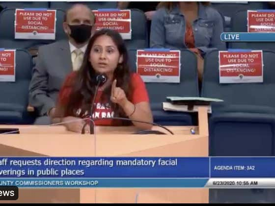Florida Woman Drops Some Knowledge On Local County Commissioners. Reminds Them Masks And Social Distancing Can't Save Them From God.