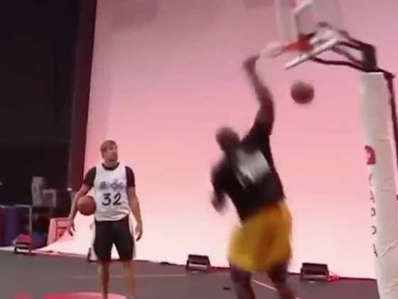 Shaq Tore The Damn Rim Off The Backboard During A Game Of HORSE vs Gronk And Everyone Is Just Pretending It's Real