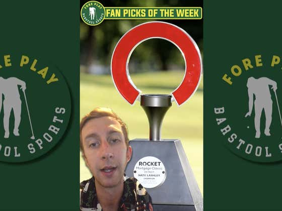 Golf picks! Rocket Mortgage Classic. And we're riding with the fans