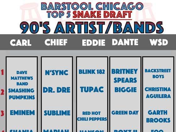 Grading The Barstool Chicago 90's Music Draft
