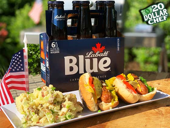20 Dollar Chef - July 4th Chicago Dogs And Potato Salad