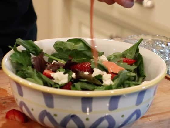 Summer Salad w/ Strawberry Vinaigrette   The Quarantine Cook