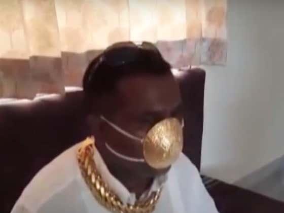 Indian Dude Wears $4000 Golden Corona Mask
