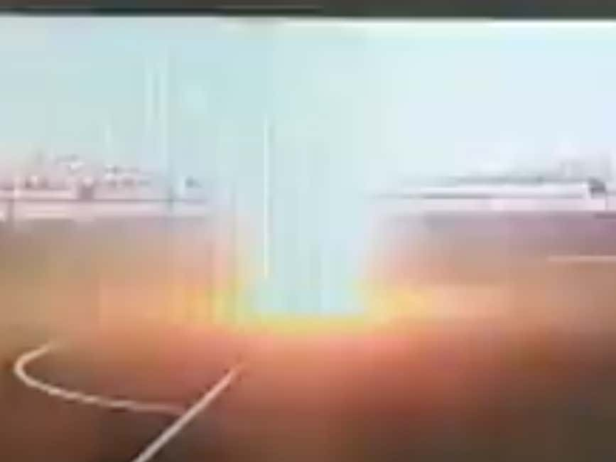 CRAZY Video Out Of Russia Of A Soccer Player Appearing To Get Vaporized After Being Struck By Lightning