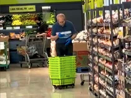 Perhaps It's Not The Best Time To Be Spit Shinning Baskets At The Grocery Store