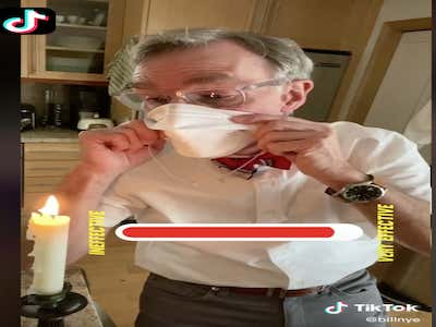 Bill Nye Just Put COVID-19's Ass In The Jackpot By Dropping A PSA On TikTok Telling People To Wear A Mask (UPDATE: TikTok Is Down. Well Played, Coronavirus)