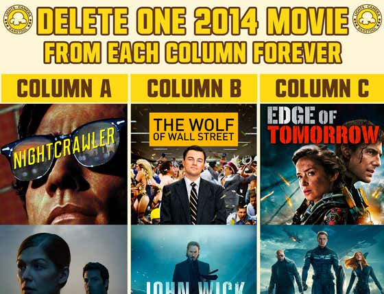 Which Three 2014 Movies Would You Delete FOREVER?