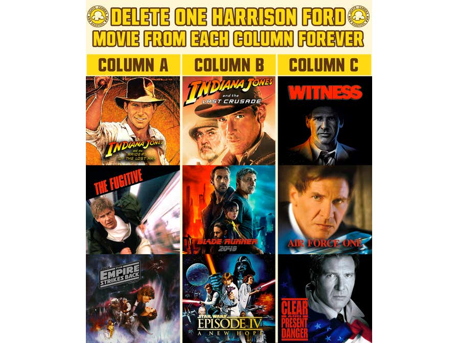 In Honor Of His Birthday, Which Harrison Ford Movies Would You Delete FOREVER?