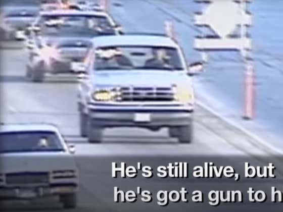 Juice On The Loose! Wake Up With OJ Simpson Being Chased In His Ford Bronco