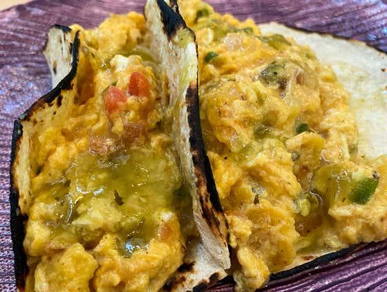 Migas Tacos | The Quarantine Cook