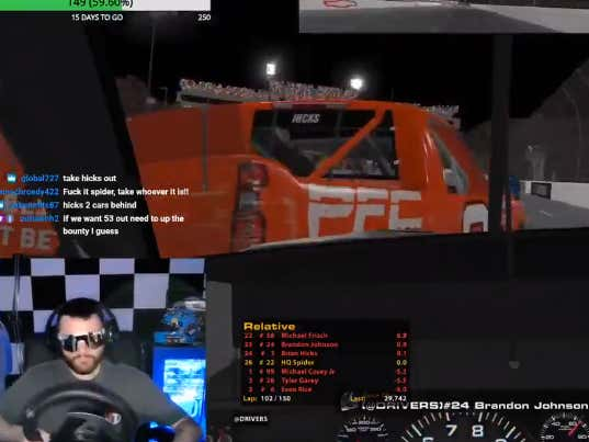 Absolutely Nobody Will Disrespect AJ McCarron's Wife On Spider's iRacing Track