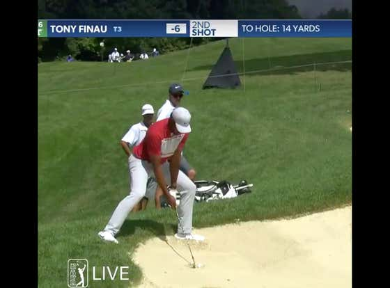 I Have One Question About This Bunker Shot From Tony Finau: How?