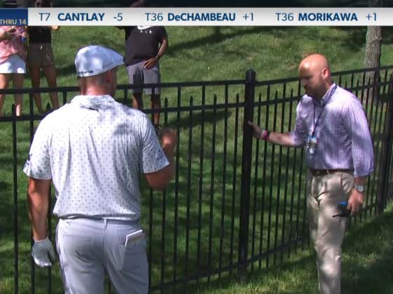 Bryson DeChambeau Had A DISASTROUS 15th Hole At The Memorial, Argued About A Fence And Ended Up Making A 10