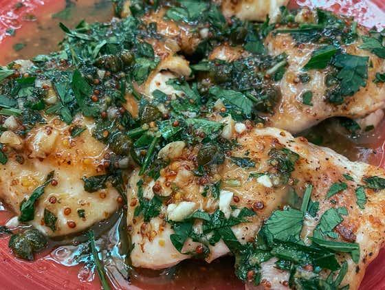 1 Pan Honey Mustard Chicken | The Quarantine Cook