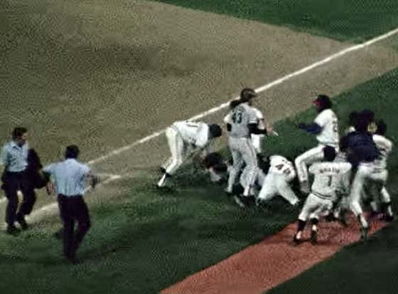 Get Your Day Rolling With An INCREDIBLE Bench Clearing Brawl Between The Rangers And Indians Back In 1974