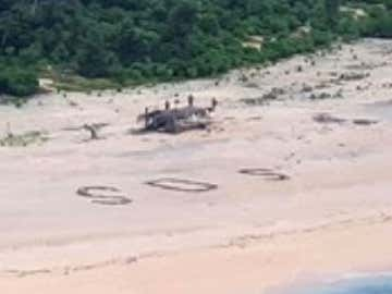 'SOS' In Sand Saves 3 Men Stranded On Tiny Micronesian Island