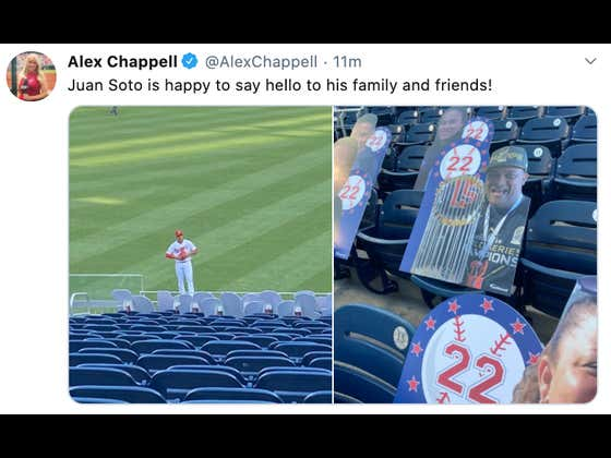 Juan Soto Made Cutouts Of His Family And Friends So They Could Be There To Watch His Season Debut