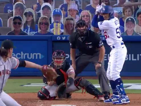 Mookie Betts ties it up for the Dodgers (-260) with a solo shot in the 3rd to make it 1-1.  He was +260 to homer tonight. @betthebases