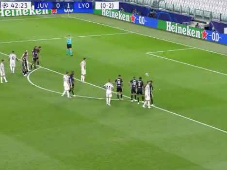 Ronaldo puts home the PK to tie it 1-1 for Juventus (-185), Lyon leads 2-1 in aggregate score   Odds to draw closed at +340