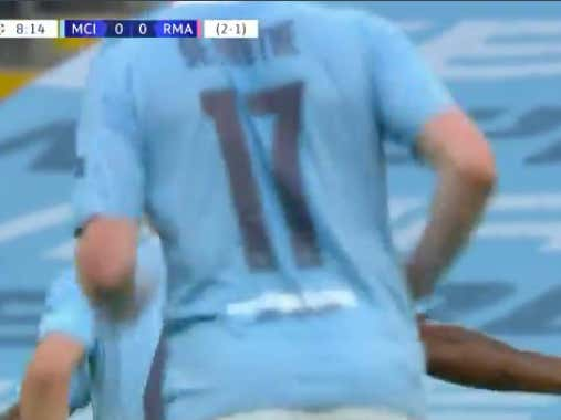 Raheem Sterling scores early for Man City (-140) to take a 3-1 lead on aggregate in their Champions League matchup vs Real Madrid  @betthefooty