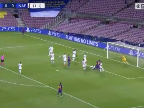 Lenglet with an early goal to take a 1-0 lead for Barcelona (-186 ML) and 2-1 aggregate lead @betthefooty