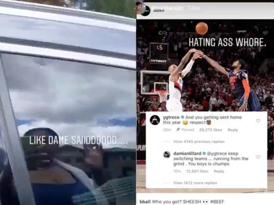 'You Got A Hoe Stripper Pregnant' - The Blazers/Clippers Rivalry Just Got To A New Level With Dame's Sister Going At It With Paul George's Girlfriend