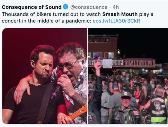 You Gotta Be A Damn Fool If You're Not Risking It All To See Smash Mouth In Concert Right Now